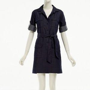 J. Crew Factory chambray shirtdress denim blue